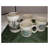 """Zurich Beer mug 5.5""""h & 3 Middletown,Md mugs"""