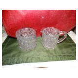 Glass cream & sugar bowl set