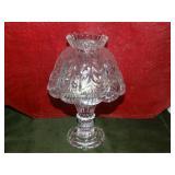 "Glass tea light lamp 2pc 9""h"