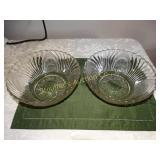 "2 Glass serving bowls 3.5""h x 9""d"