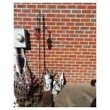 Garden lawn ornaments, shepards hook, solar light