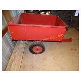 "Pull behind lawn tractor cart (tires flat) 33""w X"
