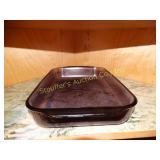 Purple Pyrex glass 9x13 dish