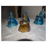 "Vintage 4 Wheaton glass dolls colonial 5""h -3"