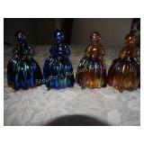 "Vintage 4 Wheaton glass dolls colonial 5""h  1"