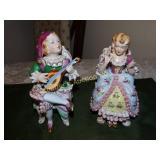 """Motae China boy & girl figurines 7""""h"""