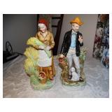 """2 Ceramic statues 12"""""""