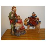 "2 Resin Christmas figurines 12.5""h (tallest)"