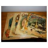 4 Antique Christmas books - one dated 1896