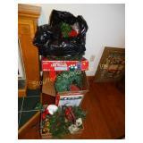 Christmas wreaths,garland, lights,etc