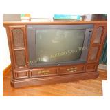 "Zenith console TV 45""x17""x32""  on wheels"