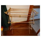 Wood drying rack (shows wear)