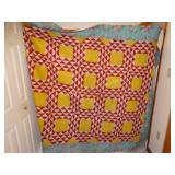 "Antique handmade quilt 86"" x 144"""