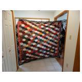 "Antique handmade quilt 84"" x 90"""