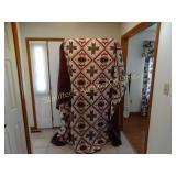 """Handmade quilt 90"""" x 117"""""""