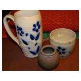 Salt glaze 3 pc pottery