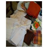 Assorted placemats, table runners, napkins and