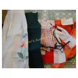 Assorted vintage aprons