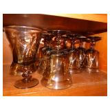 9 Brown water goblets