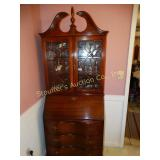 Mahogany secretary, no contents,