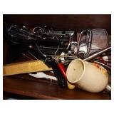 Kitchen utensils, hand beater, grater, hand