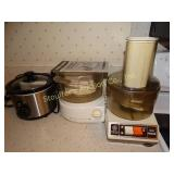 GE food processor, Black and Decker steamer,