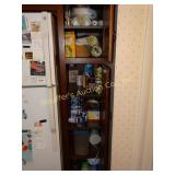 Cabinet contents, paper products, cups,