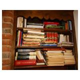 3 shelves of assorted books