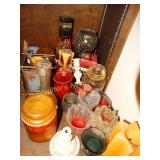 Assorted lot of candles and votive holders