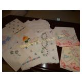 Embroidered pillow cases and guest towels