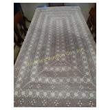 "Crochet table cloth 42"" x 80"" x 15"""
