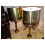 2 matching lamps, one has cord repaired,