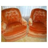 Couch, 2 swivel rocking chairs