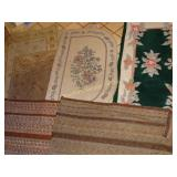 6 assorted throw rugs