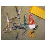 assorted scissors and pinking shears