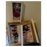 3 Gorham  dolls in original packaging