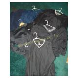 4 golf jackets, long sleeve Underarmour and a Nike