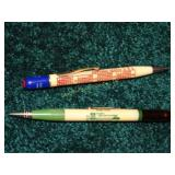 2 antique advertising ink pens one marked 1942