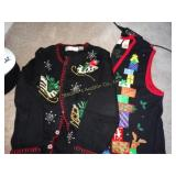 Christmas holiday vest & sweater L & XL