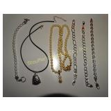"Assorted necklaces & bracelets 6 1/2"" & 7"": on"