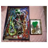 Box of costume jewelry