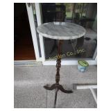 "Marble top plant stand   36""H"