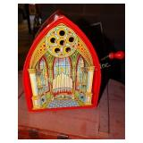 J Chein musical tin toy organ wind  up