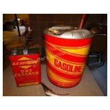 5 gal metal gas can, Universal dry cleaner can &