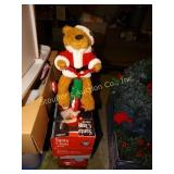 Santa  Bear on tricycle; Antimated Santa; Lighted