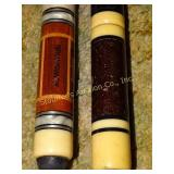 2 Pool Cues:  Brunswick (21oz)