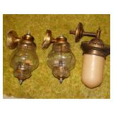 3 Outdoor lamps (top shelf)