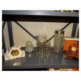 Lenox clock, 2-tealight candles, 7pc 25th anniv