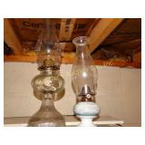2 oil lamps tallest 15""