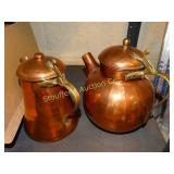 Hammered copper tea pot & coffee pot